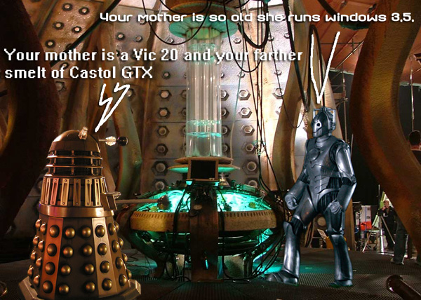 Dave the Darlek Vs Cyberman Mike