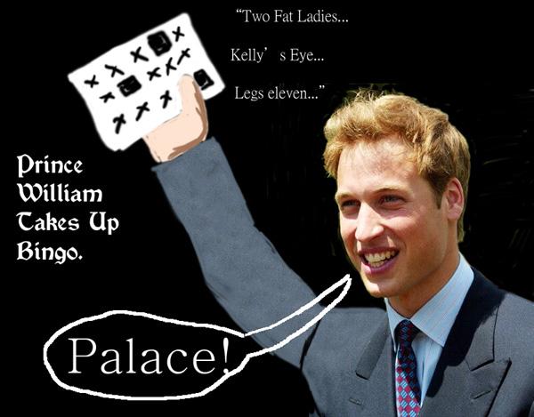 Prince William Takes Up Bingo
