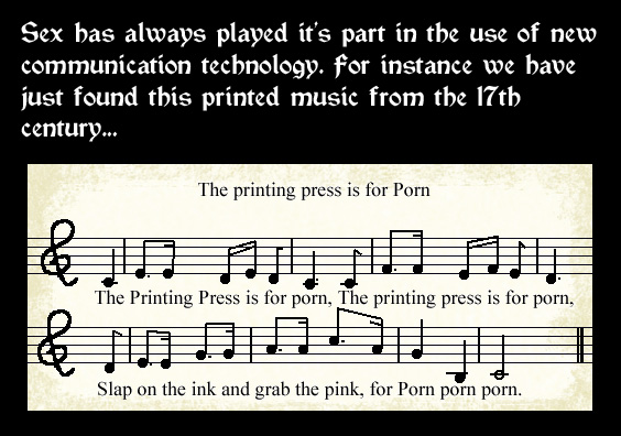 The Printing Press is for Porn